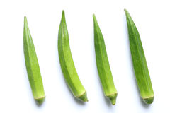 Japanese fresh okra isolated. In white Stock Images