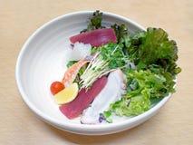Japanese fresh seafood salad Royalty Free Stock Photos