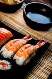 Japanese fresh sushi set. Fresh and tasty Japanese sushi set Stock Photography