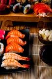 Japanese fresh sushi set. Fresh and tasty Japanese sushi set Stock Photos
