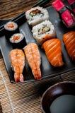 Japanese fresh sushi set. Fresh and tasty Japanese sushi set Stock Images