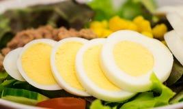 Japanese fresh tuna salad with eggs Royalty Free Stock Photos