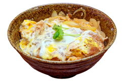Japanese fried pork chop omelet Royalty Free Stock Photography