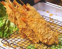 Japanese fried shrimp Royalty Free Stock Photos