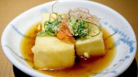 Japanese fried tofu dish Royalty Free Stock Photography
