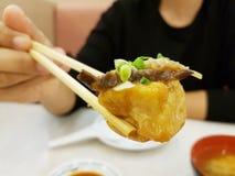 Japanese fried tofu steak Stock Images
