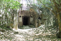 Japanese Fuel Bunker Ruins on Tinian Stock Image