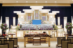 Japanese funeral home Royalty Free Stock Photography