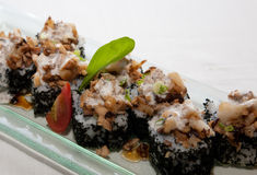 Japanese fusion food. Original Japanese fusion food cuisine stock photos