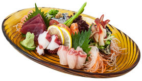 Japanese fusion food. Original Japanese fusion sea food royalty free stock image