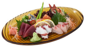 Japanese fusion food. Original Japanese fusion sea food royalty free stock photos