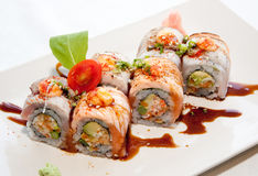 Japanese fusion food. Original Japanese fusion food sushi royalty free stock photography