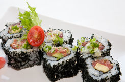 Japanese fusion food. Original Japanese fusion food sushi Stock Photography