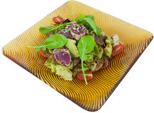 Japanese fusion food. Original Japanese fusion tuna salad stock image