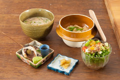 Japanese fusion food set Stock Photos