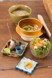 Japanese fusion food set Stock Photo