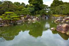Japanese garden. Seiryu-en garden of Nijo Castle, World Heritage Site in Japan. Nijo Castle is a flatland castle located in Kyoto, Japan. The castle consists of Royalty Free Stock Images
