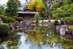 Japanese garden. Seiryu-en garden of Nijo Castel, World Heritage Site in Japan. Nijo Castel is a flatland castle located in Kyoto, Japan. The castle consists of Royalty Free Stock Photo