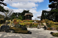 Japanese garden. A typical japanese garden reconstructed inside the kew gardens,london royalty free stock images