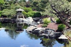 Japanese Garden. A peaceful Japanese Garden. This is one of the exhibits at the Denver Botanical Gardens in Denver, Colorado, USA Stock Photos