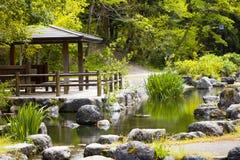 Japanese garden. Arbor in the Japanese garden Stock Images