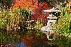 Japanese Garden. In the Fall Stock Photos
