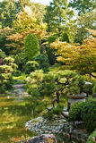 Japanese Garden. In early autumn, sunny and fresh stock images