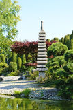 Japanese garden. In early autumn, sunny and fresh stock photography