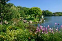 Japanese Garden. A beautiful Japanese Garden in vivid color stock photo