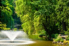 Japanese Garden. In Wroclaw, poland Royalty Free Stock Photos