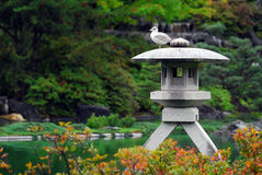 Japanese Garden. Picture of a Japanese Sculpture in a Garden Royalty Free Stock Images