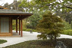 Japanese Garden. Peaceful Japanese Garden in zen setting stock image
