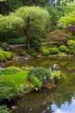 Japanese Garden. Pond at Japanese Garden in Portland Oregon stock photo