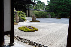 Japanese garden. In kyoto, tenryuji Stock Images