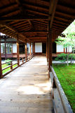 Japanese garden. Courtyard in a temple in Kyoto Stock Image