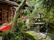 Japanese garden. The beauty and mystery of a Japanese garden Stock Photo