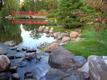 Japanese Garden. In Bloomington, Minnesota Royalty Free Stock Photo