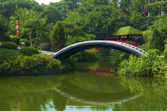 The Japanese garden. In the Chinese park, Shenzhen Stock Image