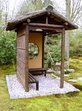 Japanese garden. Meditation place stock images