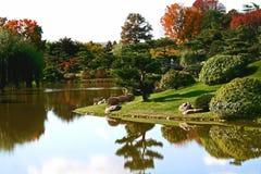 Japanese Garden. At the Chicago Botanic Gardens Stock Photo