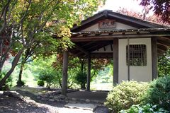 Japanese Garden. House Stock Photos