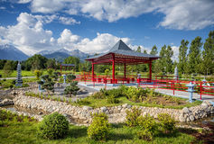Japanese garden in Almaty Stock Photo