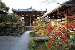 Japanese garden in Arashiyama,Kyoto,Japan. Arashiyama district is one of the most beautiful parts of Kyoto Royalty Free Stock Photos