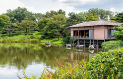 Japanese Garden area of Chicago Botanic Garden Stock Images