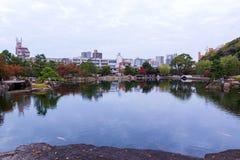 Japanese Garden in autumn. Stock Image