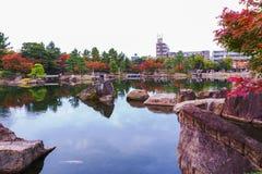 Japanese Garden in autumn. Royalty Free Stock Photos