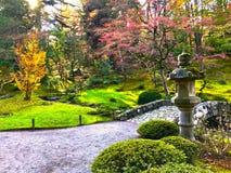 Japanese garden in autumn royalty free stock photography