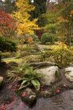 Japanese Garden During the Autumn Season. Stock Photos
