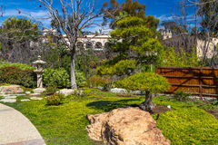 Japanese Garden in Balboa Park. A Japanese garden pathway in a friendship garden in San Diego`s Balboa Park Royalty Free Stock Image