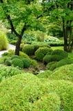 Japanese garden in the Botanical Garden of Montreal Stock Image